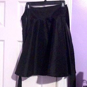 Black formal skater skirt